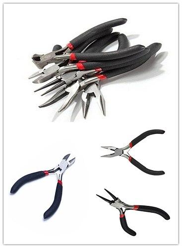 5 Pcs Jewelry Making Repair Tool Pliers Set Crafting Kit Beading Tools for DIY Repairing Beading Crafting