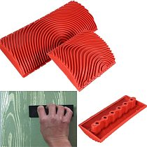 1pc Large Small Wood Graining Pattern Rubber DIY Graining  Painting Tool For Wall Decorative Tools