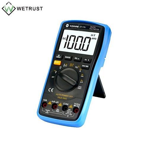 DT-17N Handheld Digital Multimeter LCD Backlight Portable Manual/Auto Range AD/DC Ammeter Voltmeter Ohm Voltage Test Multimeter
