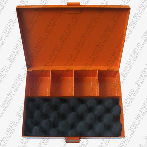 Empty metal tool box for sorting hand terminal crimping tool and wire end sleeves
