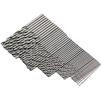 50Pcs HSS High Speed Steel Drill Bits Set 1/1.5/2/2.5/3mm Tool High Quality Power Tools Set Accessories For Dremel Rotary Tool