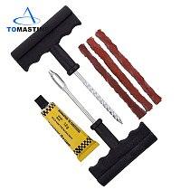 6PCS/Set Car Tire Repair Tools Tubeless Tyre Puncture Repair Plug Kit Needle Patch Fix Tools Cement Useful Set