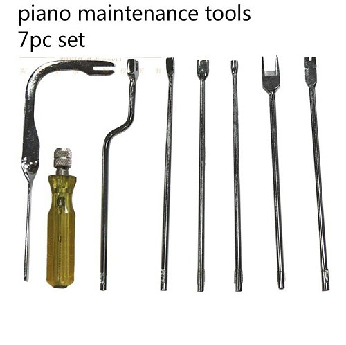 7pcs The piano maintenance tools  Repair Wrench Combination sound Head Over Cable  Piano Tuning Hammer Wool Mute Temperamen