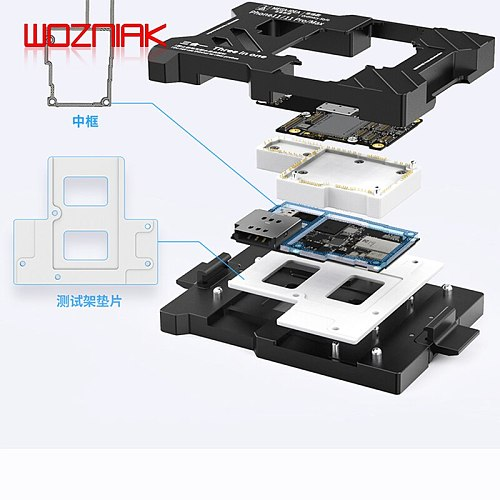 MEGA-IDEA 3in1 Motherboard Test Fixture for iPhone X/XS/XSMAX 11/11pro/11ProMax Logic Board Function Fast Test Holder Tools