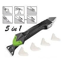 5 in 1 Silicone Remover Caulk Finisher Sealant Smooth Scraper Grout Kit Metal blade shovel rubber scraper glass rubber scraper
