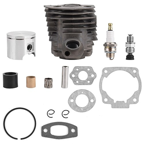 46mm Cylinder Piston w/ Gasket Kit for Husqvarna 50,51,55 Rancher Nikasil Engine