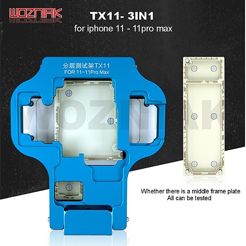 JC TX11 3in1 Mainboard Function Tester FOR iPhone11 11Pro Pro MAX Main Board Layered Test Rack No middle frame detection