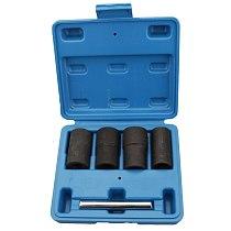 BEST5Pcs Twist Socket Set Locking Wheel Nut Bolt Stud Extractor Removers 17Mm 19Mm 21Mm 22Mm Socket Car Accessories New