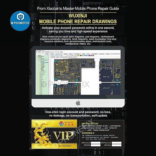 Wu Xin Ji Wuxinji Online Fivestar USB Dongle for Phone Samsung PCB Motherboard Schematic Diagram Repair Soldering assistant