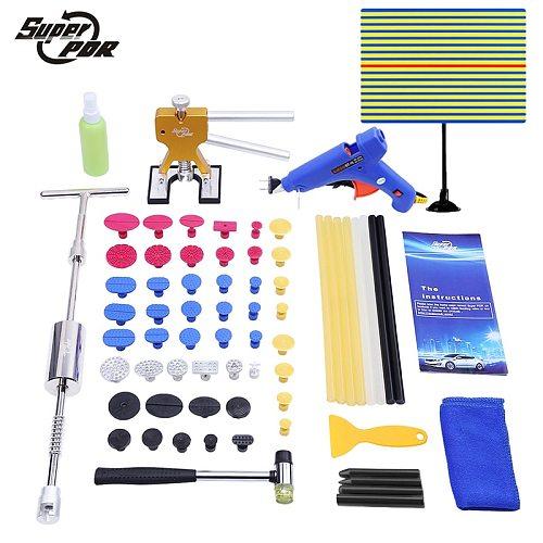 Paintless Dent Repair PDR Tools Auto body dent removal Tools Kit Slide Hammer pulling bridge Glue Gun glue sticks hand tools