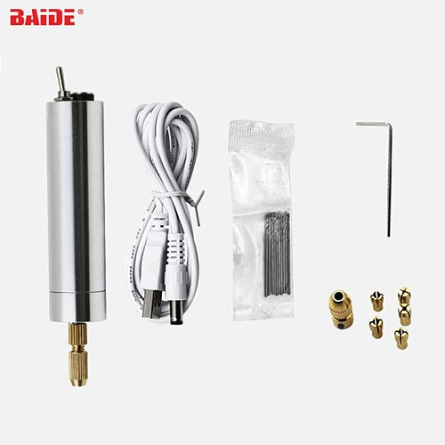 USB Charging Micro Electric Hand Drill Rotary Drill Cutting Drilling Set Mini Grinding for Sculpture Tools Wholesale 20set/lot