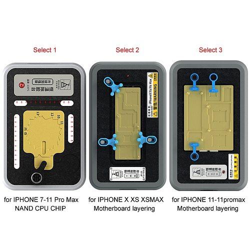 MEGA-IDEA Laminating tin on main board Chip degumming Thermostatic Fixture Table for IPHONE x xs xsmax 11 pro max IC Remove Glue