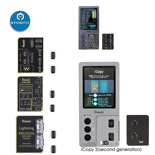 Qianli iCopy Plus for iPhone 7/8/8P/X/XR/XS/XS MAX/11 Pro Max LCD/Vibrator Transfer EEPROM Programmer Add Battery/Lighting Board