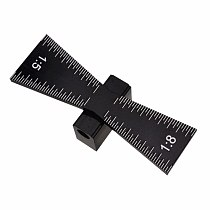 Aluminum Alloy Hand Cut Wood Joints Gauge Template Size 1: 5 and 1: 8 Dovetail Marker Marking Carpentry Tool