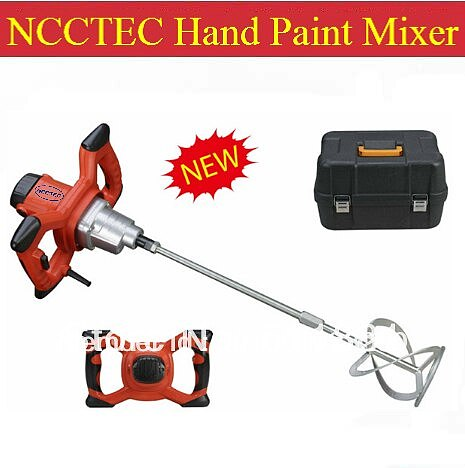 Hand Paint Mixer with single shaft and packing box FREE shipping | Electric Single coating paint mixing tool machine | 1200w 6kg