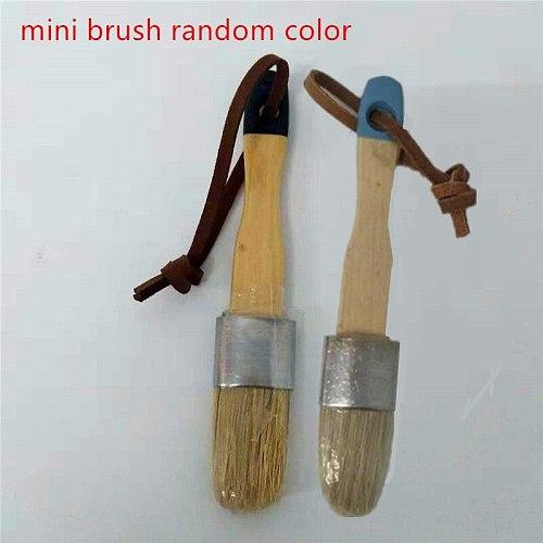 3PC Wooden Handle Chalk Paint Pointed Brush Bristle Chalk Oil Paint Painting Wax Brush Artist Art Supplies Hand tool set