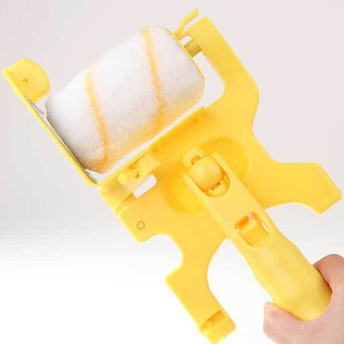 Multifunctional Paint Brush Yellow Handheld Clean-cut Roller Edger Home Improvement Paint Coating Wall Treatment Painting Tools