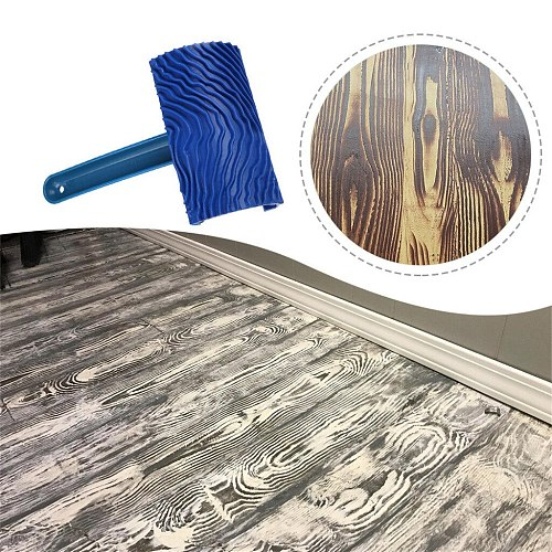 2019 hot new products Wood Grain Pattern Rubber DIY Graining Painting Tool For Wall Decoration Home family