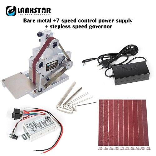 Multifunctional DIY Mini Belt Machine Desktop Polishing Grinder DC High Power Electric Fixed Angle Sharpening Machine