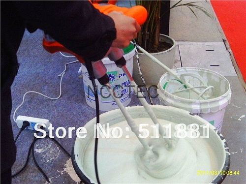 Hand Paint Mixer DOUBLE shaft FREE shipping | professional Electric Double putty coating mixing machine tools | 1800w 2.3hp 7kg