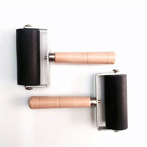 6cm Professional Rubber Roller Brayer Ink Painting Printmaking Roller Art Stamping Tool