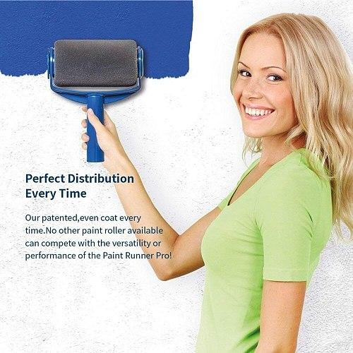 Seamless Paint Runner Pro Roller Brush Handle Tool Flocked Edger Office Wall Painting Roller Paint Brush Set Paint Roller