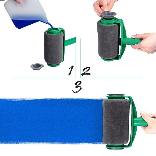 New Seamless Paint Runner Pro Roller Brush Handle Tool Flocked Edger Office Wall Painting Roller Paint Brush Set Paint Roller