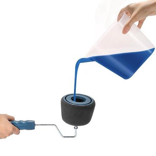 Paint Runner Pro Roller Brush Handle Tool Edger Room Wall Painting Home Garden Tool Roller Paint Brush Set + Extension Pole