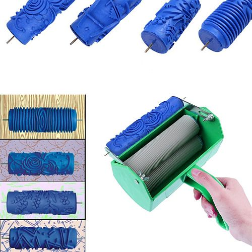 Single Color Decoration Paint Painting Machine For 5 Inch Wall Roller Brush Tool