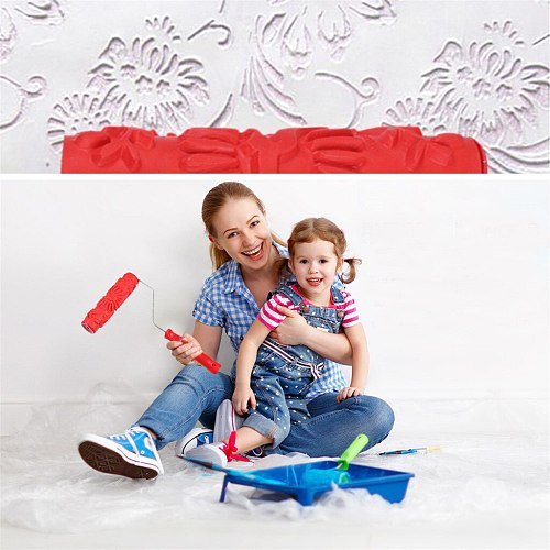 Household Room Painting Tool Embossing Roller Paint Brush Wall Paint Tool Decora Handle Roller Cushions Throw Home family