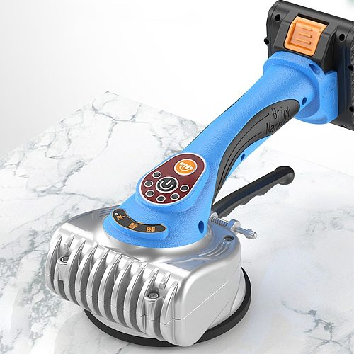 Tile Floor Laying Tool Tile Vibrator Leveling Machine Bricklayer Ceramic Tile Suction Cup with 13000mAh Lithium Wireless