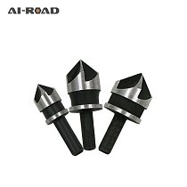 3pcs/set 90 Degree 1/4 Hex Shank Drill Bit 5 Flute 12mm 16mm 19mm Woodworking Chamfer Counter Sink Chamfering Debur Countersink