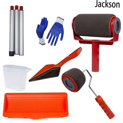 no seam DIY Paint Runner Pro Roller Brush  Tool Flocked Edger Office Room Wall painting Home Garden Paint Rollers Set