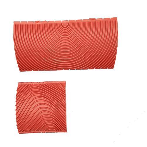 LanLan 2PCS 3 Inch 6 Inch Imitation Wood Grain Paint Roller Brush Wall Painting Tool sets Wall Texture Art Painting Tool Set