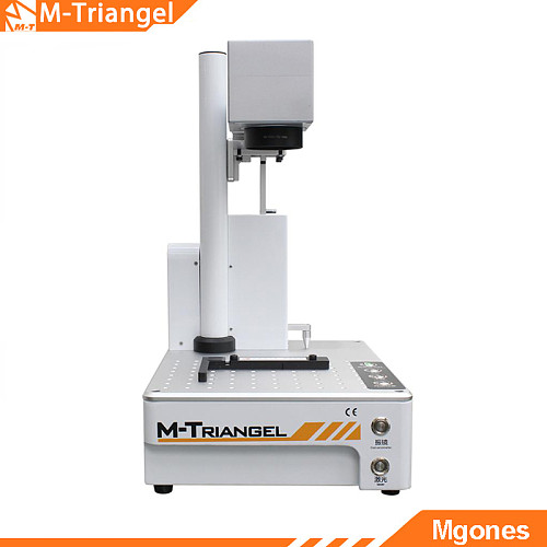 M-Triangel Mgones 20W Fiber Laser Metal Marking Machine Used for Aluminum Gold Silver Brass Engraving LCD Back Glass Remover