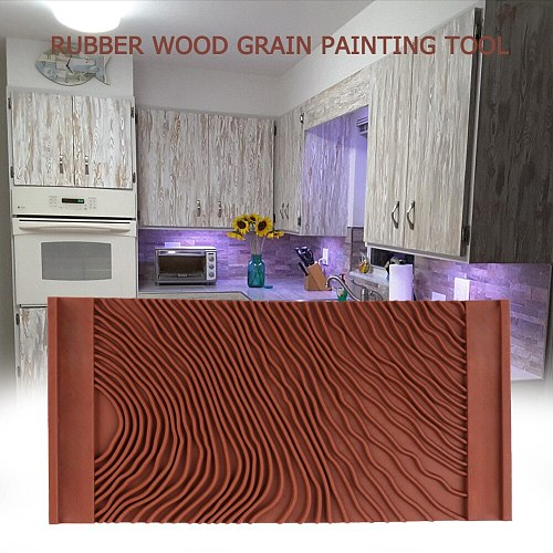 Pattern Brush Wood Grain Wall Texture Painting Tool Practical Roller Graining Durable Imitation Art Rubber DIY Home Decoration