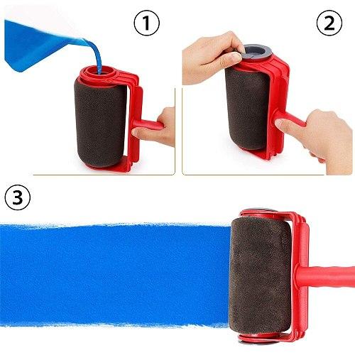 DIY Seamless Paint Runner Pro Roller Brush Handle Tool Flocked Edger Office Wall Painting Roller Paint Brush Set Paint Roller