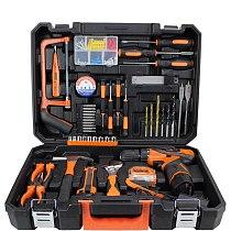 47 pcs/set Power Tools Set Cordless Li-Ion Drill herramientas Woodworking Tools Kit tool box herramientas de mano PTS004