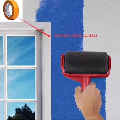 New arrival Seamless Paint Runner Pro Roller Brush Tool Flocked Edger Office Wall Painting Roller Paint Brush Paint Roller