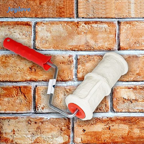 JOYLOVE Pattern Paint Roller Polyurethane Tool Environmental Protection Stamp Decorative Cylinder Imitate Stone For Wall