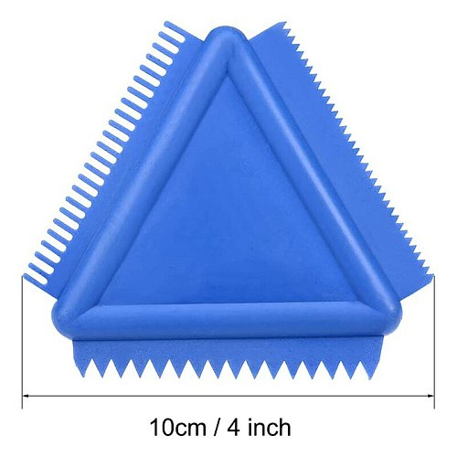 Wood Grain Tool 4 Inch Rubber Graining Pattern Scraper Tool for Wall Painting Decoration DIY MS14(Blue 2Pcs)
