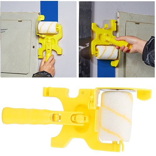 Paint Tool Sets Trimming Color Separation Roller Brush Small Hand-Held Portable Wall Painting Tool