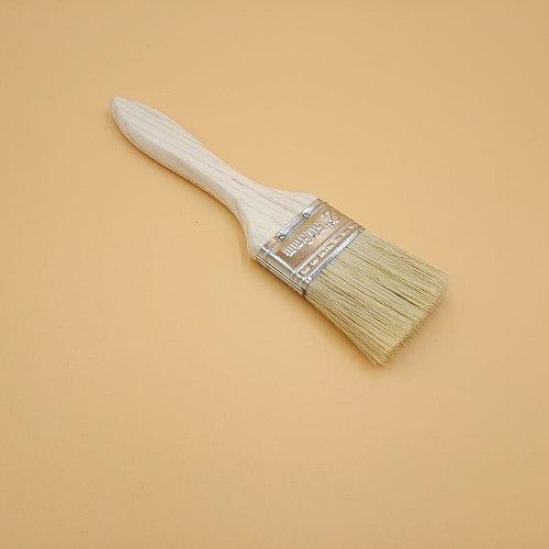 9 PC Wooden Handle Chalk Paint flat Brush Bristle Chalk Oil Paint Painting Wax Brush Artist Art Supplies Hand tool set free shi