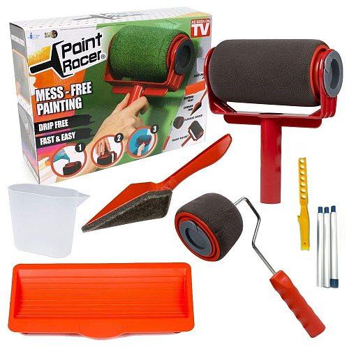 9pcs Seamless paint roller pro brush set Paint Runner paint runner roller Wall Painting for Home Office Building Wall Paint Roll