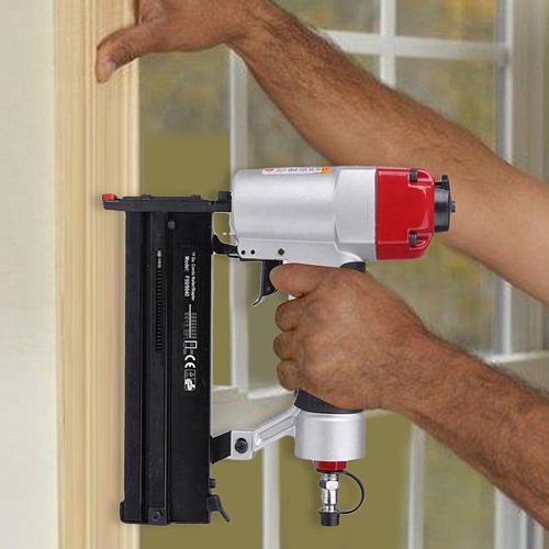 2 in1 Cordless Brad Nailer Kit Pneumatic Air Nail Gun and Stapler Lightweight Electric Repair Tools
