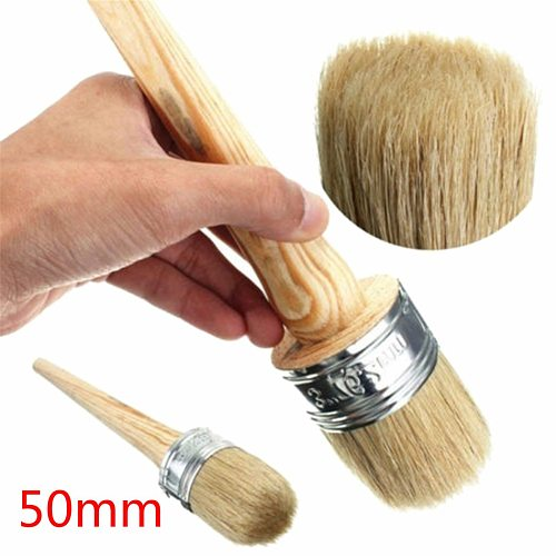 50mm Chalk Paint Wax Brush Painting or Waxing Furniture Stencils Home Decor Wood  Brushes with Natural Bristles Paint Tool Sets