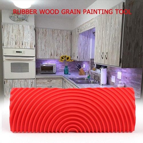 Imitation Wood Graining Pattern Wall Texture Art DIY Brush Painting Tool Rubber Wood Grain Painting Tool  Home Decoration