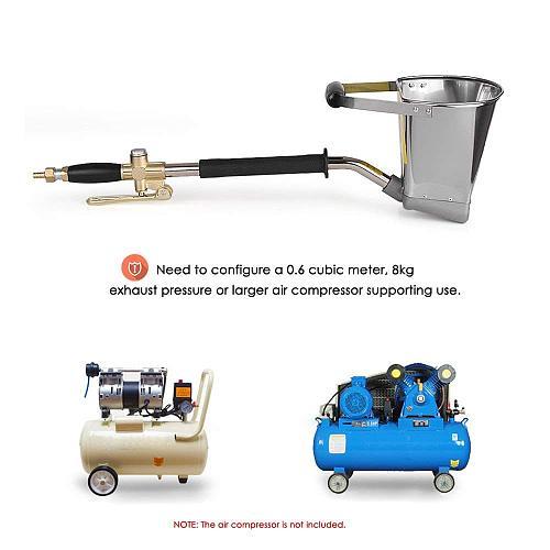 Wall Mortar Gun Stucco shovel Hopper Ladle Cement Air Stucco sprayer Mortar Sprayer Plaster Hopper Gun Cement Sprayer gun