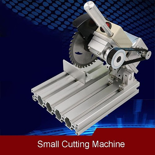 Small Cutting Machine 360W 110V/220V Household Electric Table Saw Aluminum Alloy 4 Inch DIY Circular Saw For Woodworking Steel