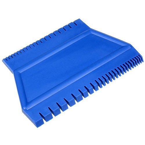 TOP Wood Grain Tool 4.7 Inch Ladder Rubber Graining Pattern Scraper Tool for Wall Painting Decoration DIY MS15 Blue